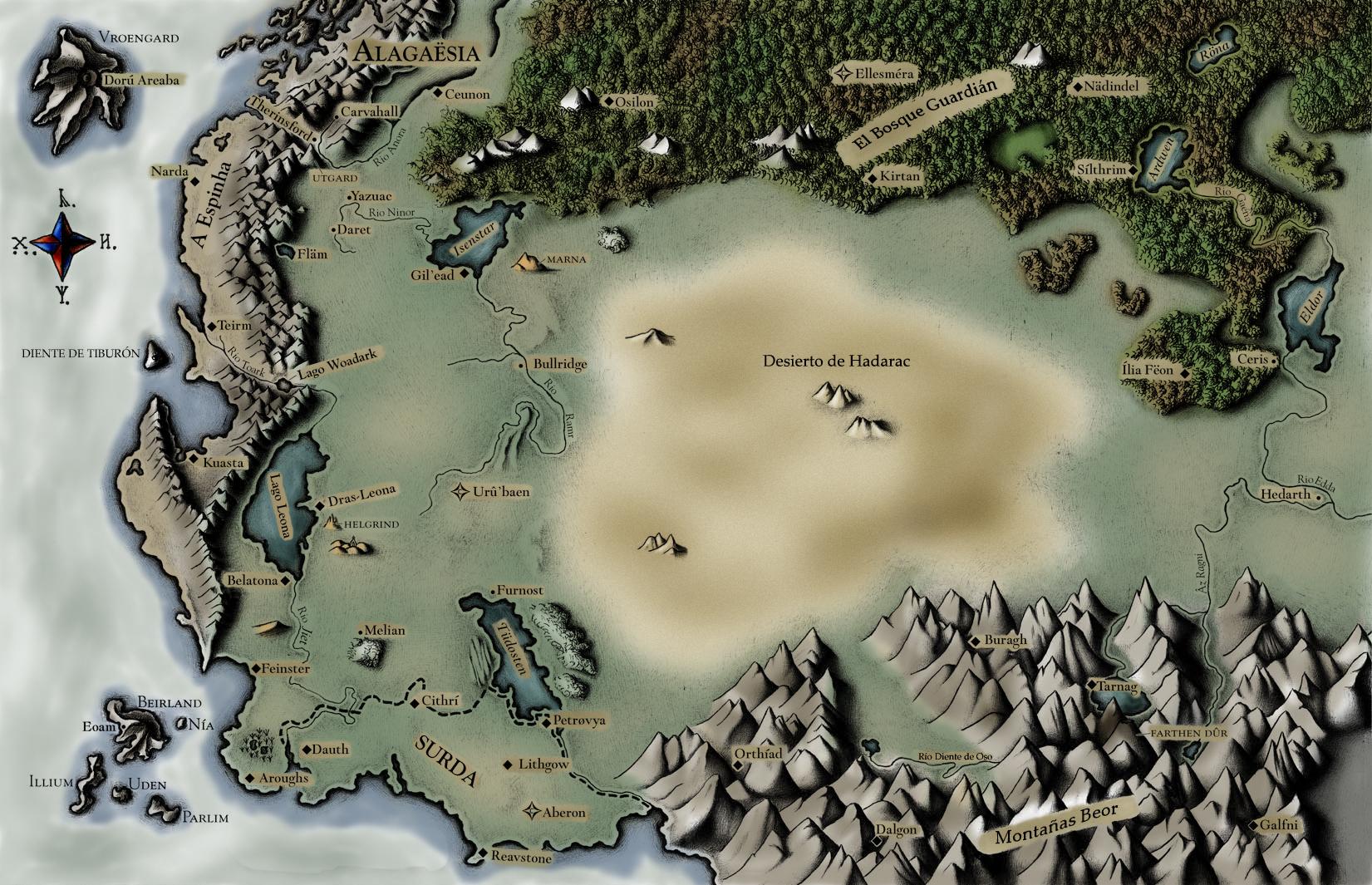 Alagaesia Map - Eragon... Eragon And Arya Drawings
