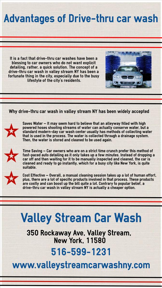 drive-thru car wash in valley stream NY by vscarwash on