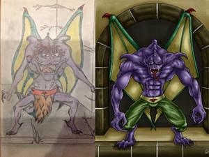 Re-draw my old art - Gargoyle (1998) comparison