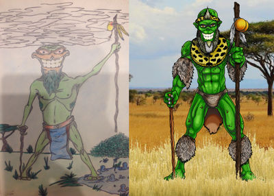 Re-draw my old art - Khumalo (1998)