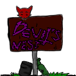 Devil's Nest sign by ExplodingBlossom