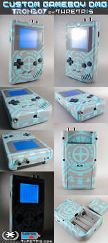 Custom Tron Tribute Gameboy