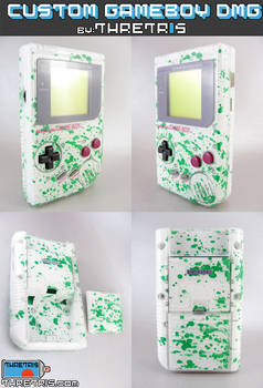 Inside out green splatter