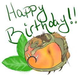 Happy Birthday,  ChirreTheDragoness