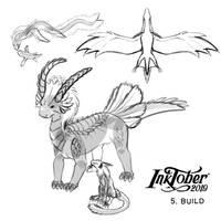 Inktober'19 - various dragon BUILDs
