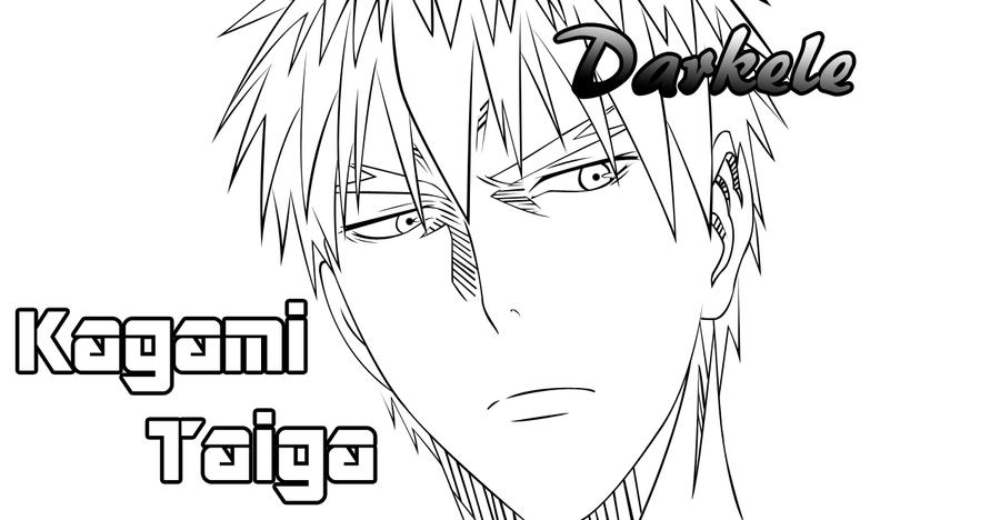 Kuroko No Basket Lineart : Kagami taiga lineart by darkele on deviantart