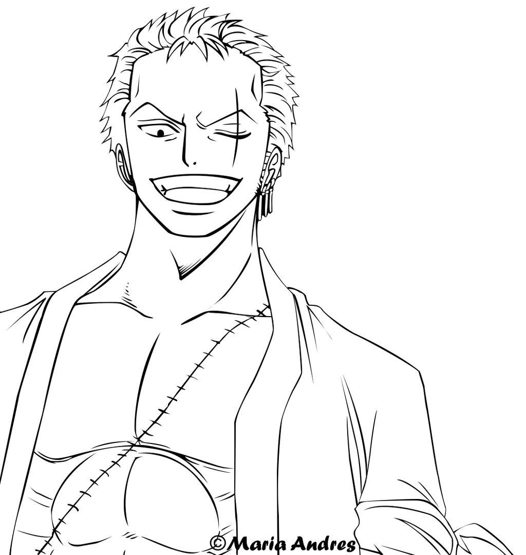 One Piece Lineart : Lineart roronoa zoro by darkele on deviantart