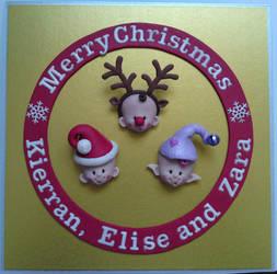 Fimo Christmas Card by Jarreth