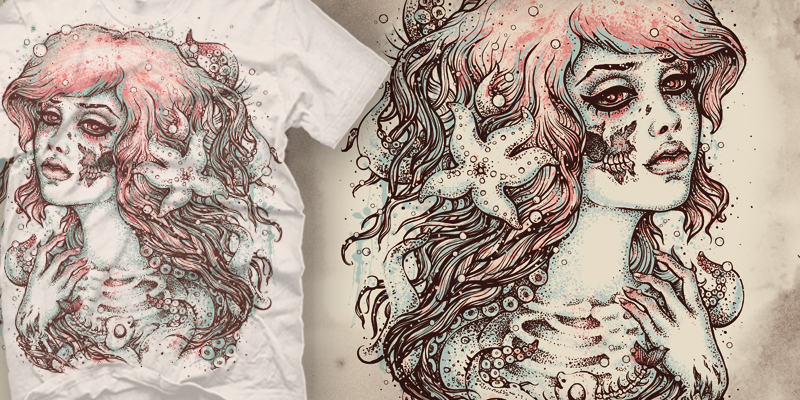 Little Mermaid Tee by Satangelica