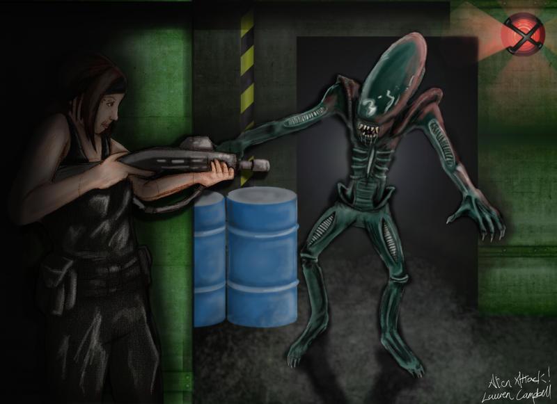 Alien Attack by RiOTxLauren