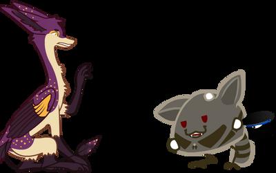 Gift Art: Laiq makes a new friend(?)