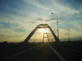 Sunset Bridge by EnelyaSaralonde