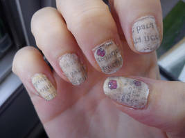 Poetry Nail Art by EnelyaSaralonde