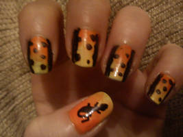 Firebellied Newt Nails by EnelyaSaralonde