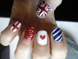 United Kingdom Nail Art by EnelyaSaralonde