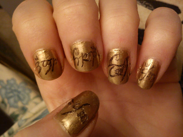 Lord of the rings Nail Art by EnelyaSaralonde