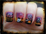 Halloween Nail Art Part1
