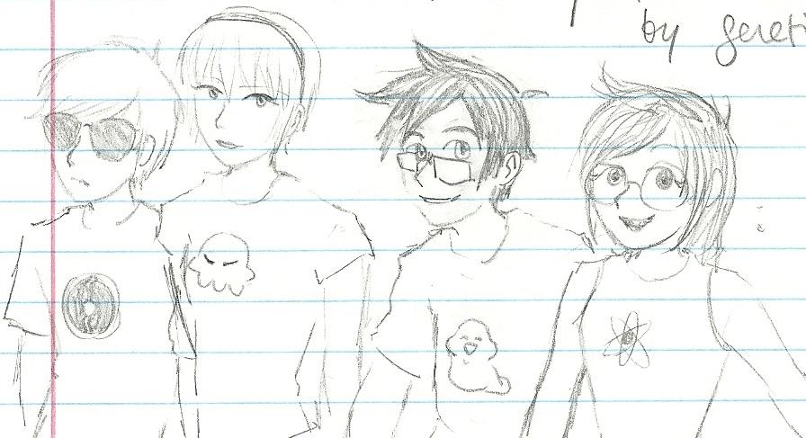 homestuck kids doodle by AsplodedKeruri