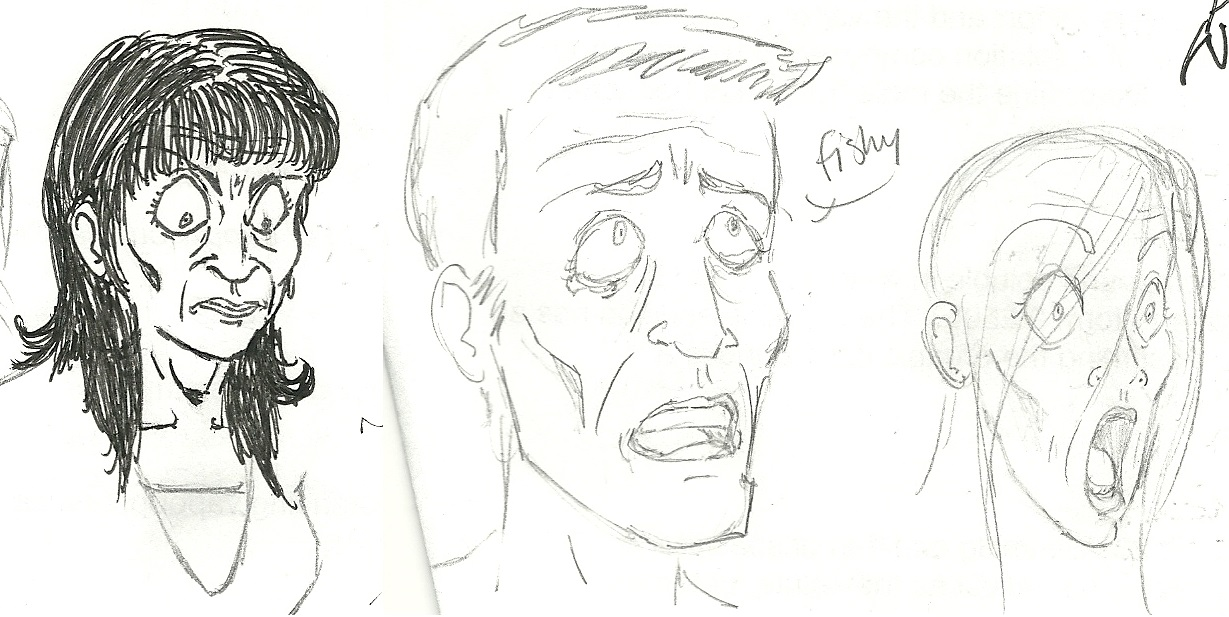 three ugly faces by AsplodedKeruri