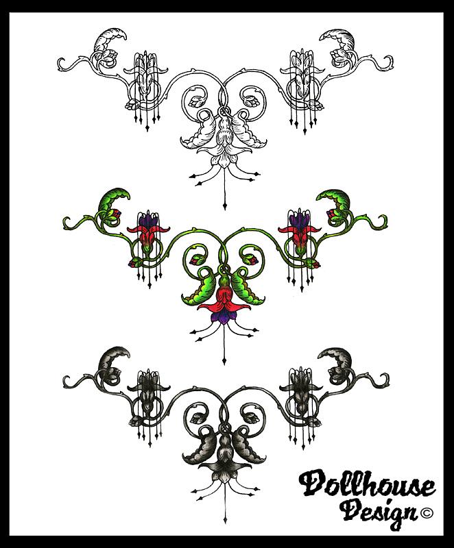Three Filigree Tattoos