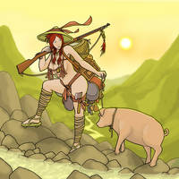 Redhair's Boar by ColorCopyCenter