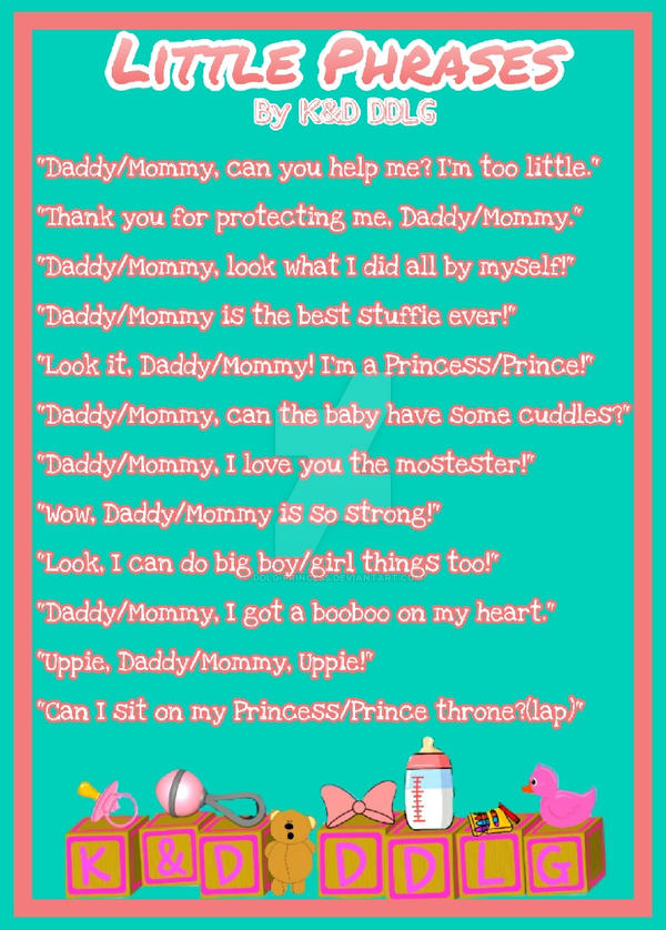 little phrases by ddlg princess on deviantart