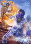 Mortal Kombat Sub-zero Vs Scorpion Fan Art