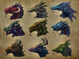 Dragon Heads by Yoso999