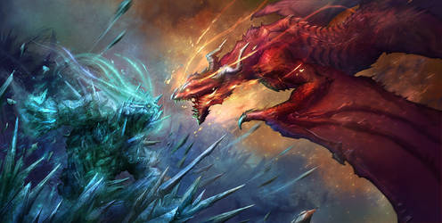Elemental VS Dragon!
