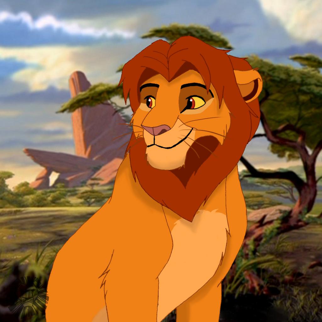 Simba as a teenager