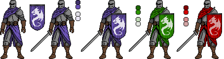 knights pixel dark souls style by antohammer
