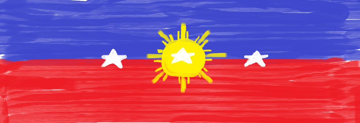 PHILIPPINE FLAG ART By Pcyrrus