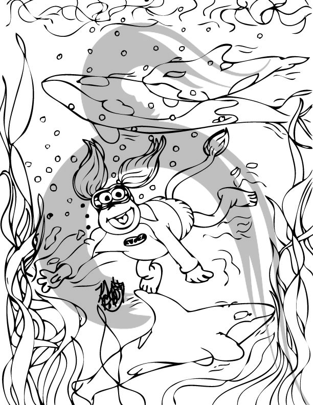 fragle rock coloring pages - photo#22