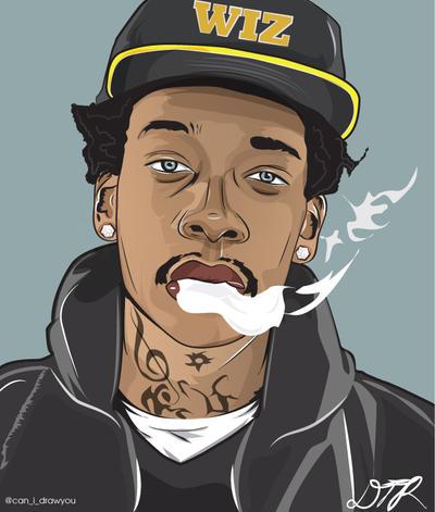 Wiz Khalifa Vector by DeZynes on DeviantArt