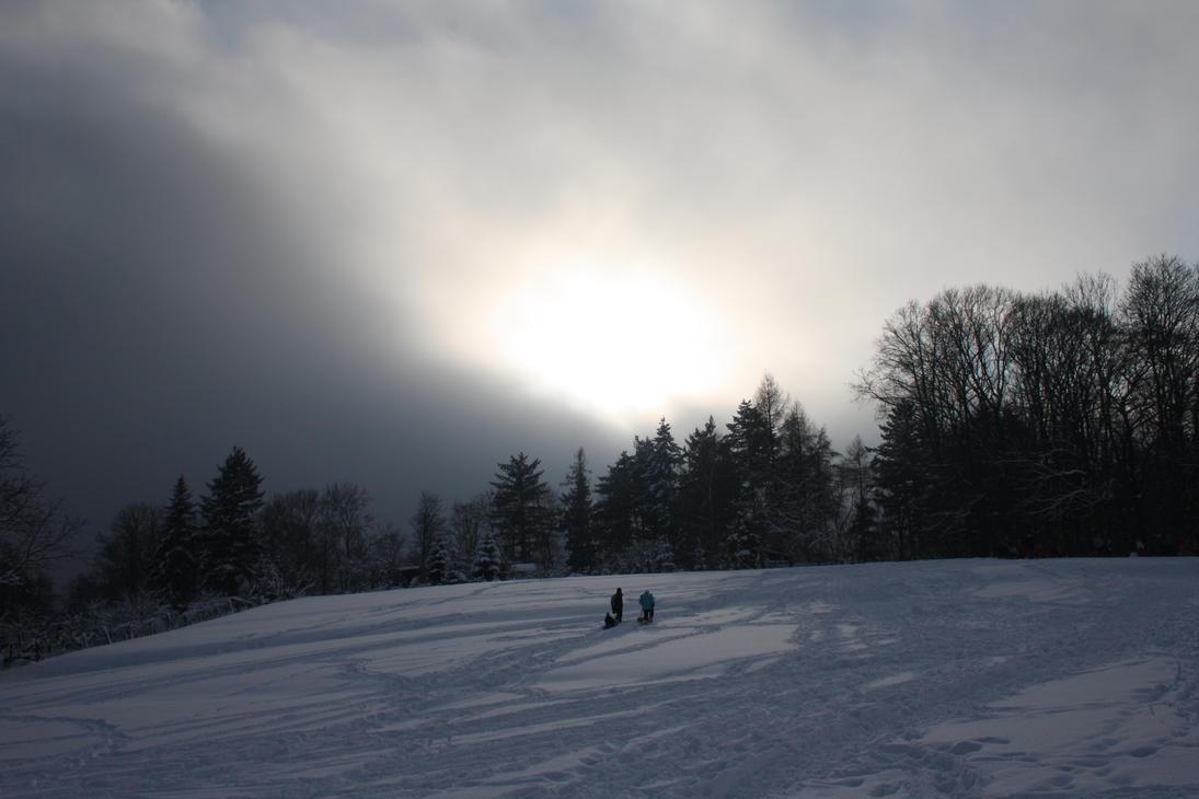 A  scenery in winter by davidfriedrich