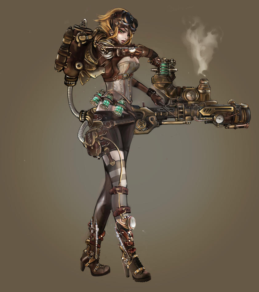 Steampunk warrior by Sachielchen on DeviantArt