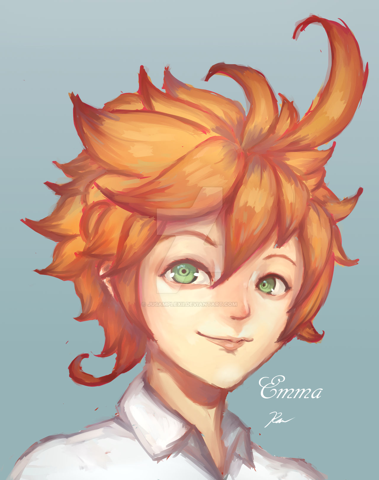 Emma Fanart From Promised Neverland By Jusamplexii On Deviantart