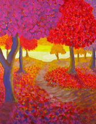 Autumn Path by BlueMoonArt2000