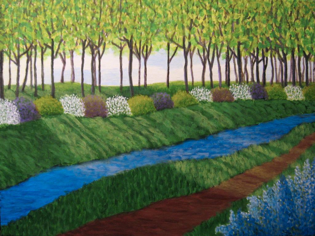 Quiet Garden Path by BlueMoonArt2000