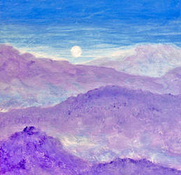 Cold Mountain Moon by BlueMoonArt2000