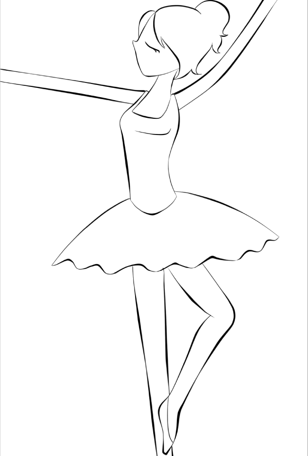 ballerina colouring page by alem22 on deviantart
