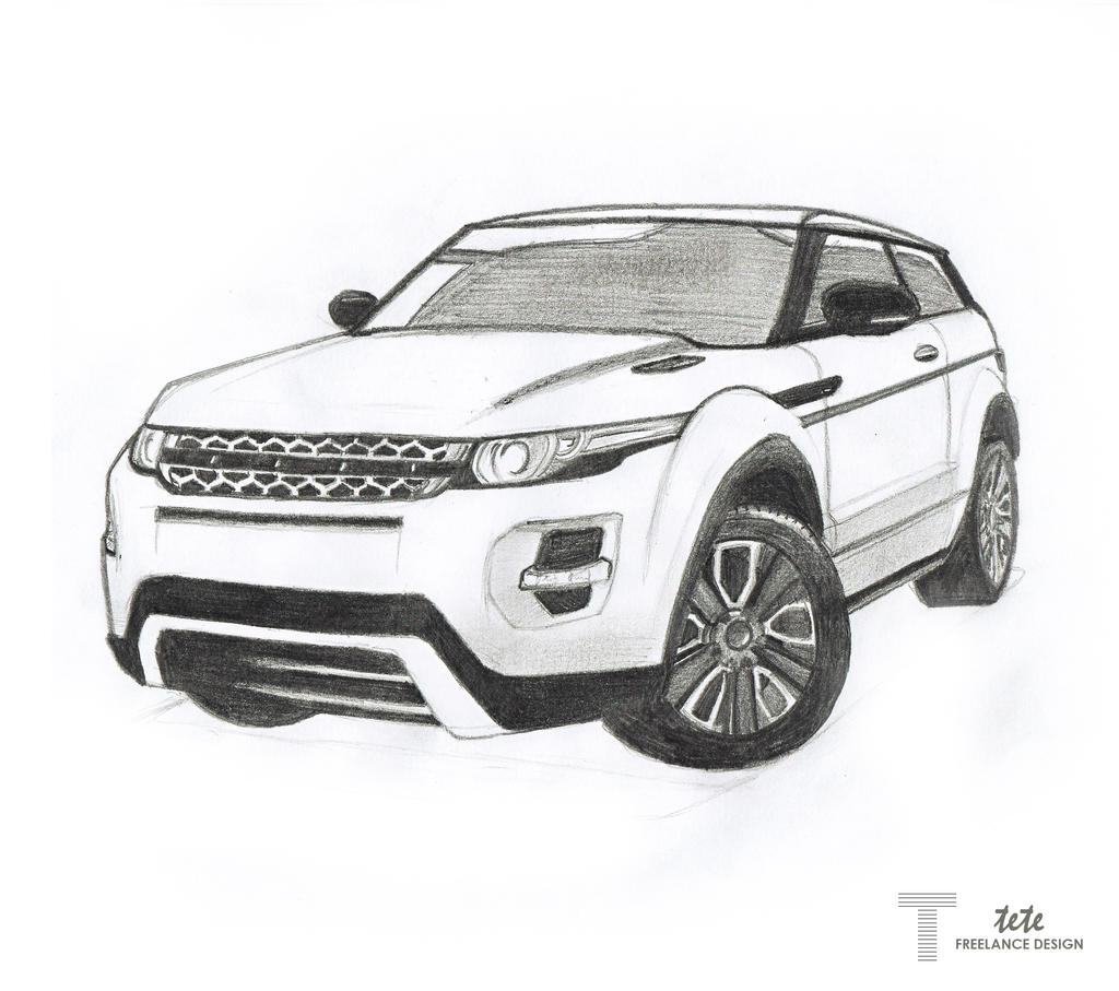 range rover evoque drawing by ifaze on deviantart. Black Bedroom Furniture Sets. Home Design Ideas