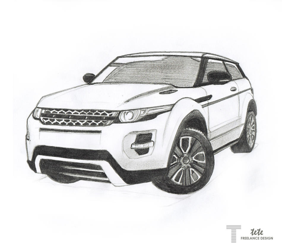 Range Rover Drawing >> Range Rover Evoque Drawing by iFaze on DeviantArt