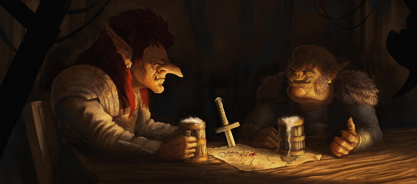 A Troll and Orc and a Rabbi Walk into a Bar by MattKatz