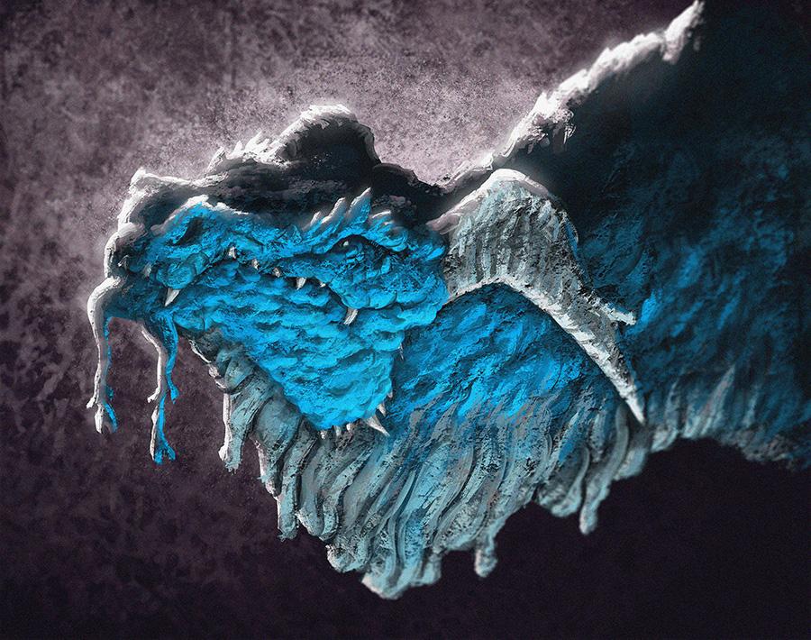Blue Dragon Portrait by MattKatz