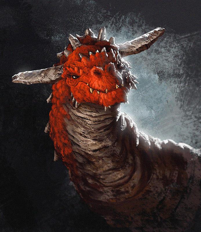 Red Dragon Portrait by MattKatz