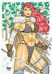 Red Sonja original art by MatheusGomesArt