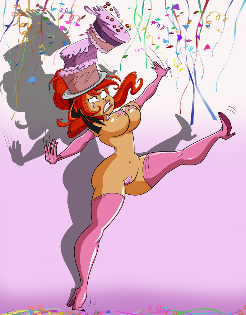 Commission: Trizia,  Birthday Trouble by grimphantom