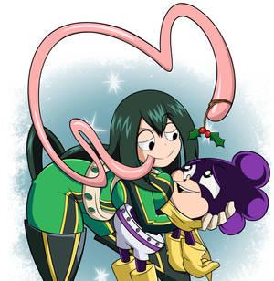 Commission: Christmas Tsuyu and Mineta