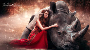 The princess and the rhino